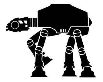 Star Wars AT-AT Vinyl Decal