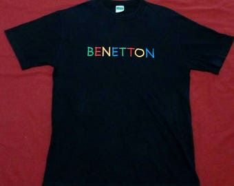 FREE SHIPPING Vintage 90's United Colorado of Bennetton small size