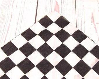 Vintage black and white check bandana