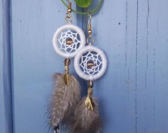 Dream catcher earrings / Dreamcatcher earrings