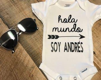 Hola Mundo (Hello World) Baby Onesie