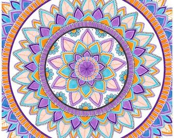 Handmade Flower Mandala Design Art