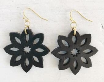 Leather Cutout Earrings