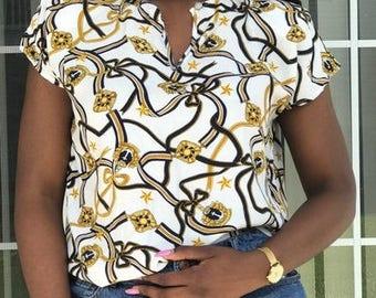 Embellished Vintage Blouuse