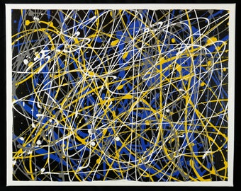 Enamel Drip Painting - Original 2 (16x20)