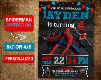 Spiderman homecoming birthday invitation spiderman birthday invitation invitations spiderman invitation spiderman birthday party spiderman party solutioingenieria Gallery