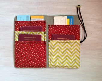 Passport holder, travel organizer, travel passport cover