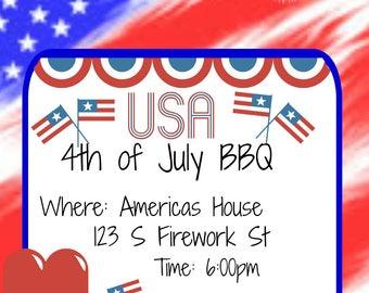4th of July BBQ Invite