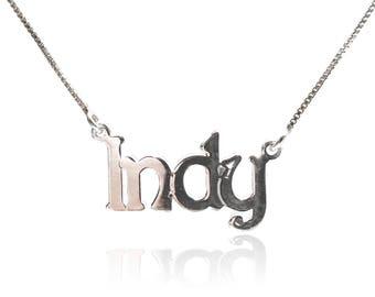 925 Sterling silver kids name necklace argent collier argent collier initial collier enfant nome collana collier prénom collier bois enfant