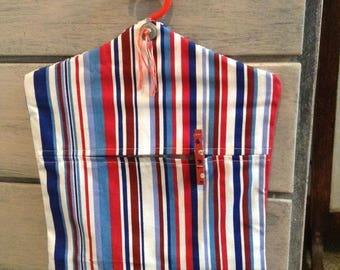 Handmade peg bag and pegs
