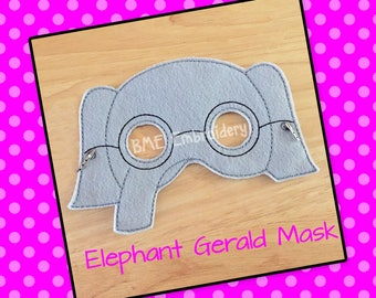 Elephant Gerald Felt Mask- Elephant Mask-Child's Dress Up and Imaginary Play- Birthday Party Favor-Photo Shoot-Pretend Play-Theme Party