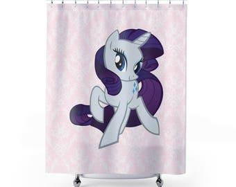 Cute Unicorn Designed Curtain - Shower curtain