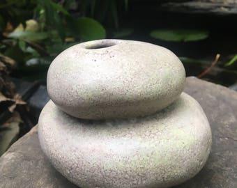 handmade ceramic cairn vase