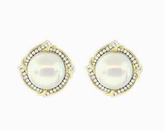 Mabe Pearls earrings 14 kt. Gold