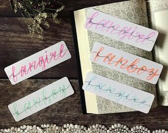 Fangirl/Fanboy Bookmark