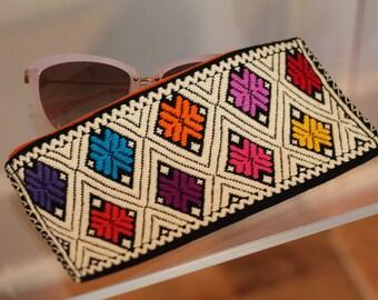 Pencil pouch/embroider bag/sunglasses case