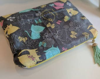 Yellow Sunshine in my Pocket Children's Insulated Zipper Pouch- Diabetic Supply Bag-Insulated Bag-Medical Bag-Kids Gift-Child's Bag-Kids Bag