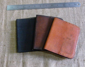Leather Passport Sleeve with  Id / CC Slots  Color Tan