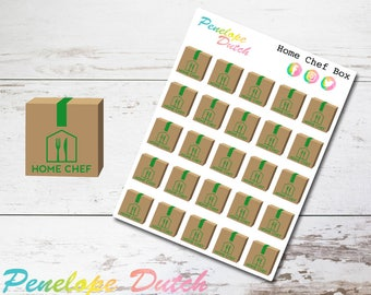 Home Chef Food Delivery Service Box Planner Stickers