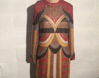 1960s Louis Feraud Mod lurex dress