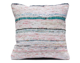 20x20 Stripe pillow White Stripe PILLOW Turquoise stripe Pillow Cover Grey stripe Decorative 50x50 cm body pillow cover simple design pillow