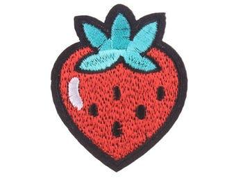Strawberry Patch,  Strawberry  Embroidered Patch, Fruit Patch VNEM087