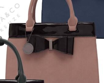 bow satchel handbag