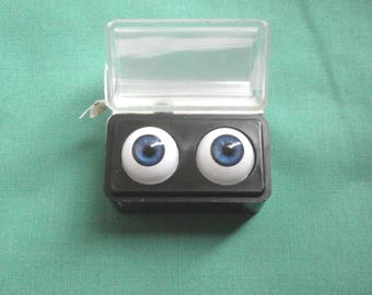 "pair of acrylic eyes blue 0.55""/14 mm / realistic eyes/ BJD/ Glastic/Vintage"