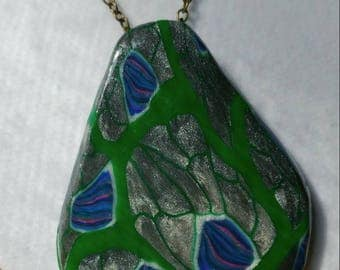 Necklace, Polymer Clay, Polymer Pendant, Jewelry, Clay Jewelry