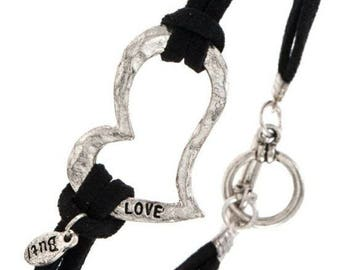 Heart Bracelet with Toggle Closure