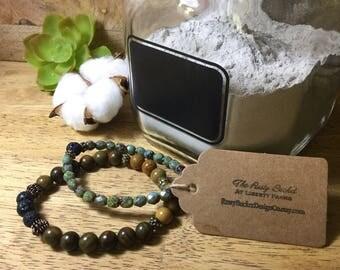 Essential Oil Stretch Bracelet Stack