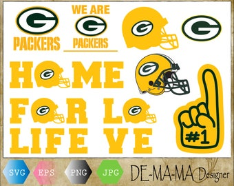 Green Bay Packers Svg, Cuttable Design Files Eps,Png, Jpg-Instant Download