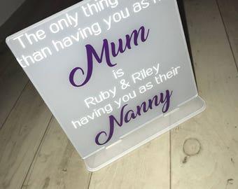 Personalised Mum Plaque!