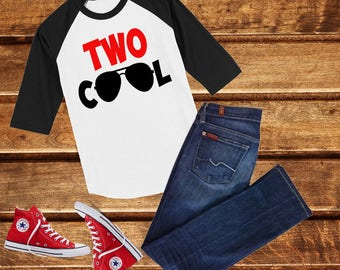 Two cool, 2nd Birthday Shirt, 2nd Birthday Boy Shirt, Boys Birthday top, Birthday shirt, second Birthday Boy Shirt