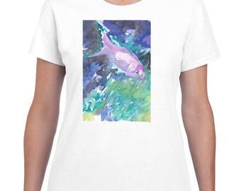 Lonely Fish By Paintsarahpaint - Ladies Shirt