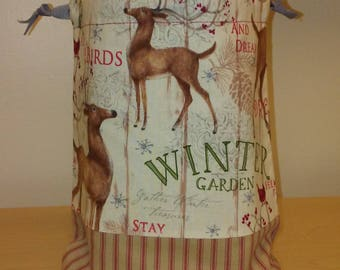 Knitting Project Bag, Crochet Project Bag, Christmas in July! Project Bag - Small