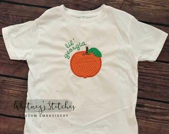 Lil Georgia Peach Tee - Georgia Peach - Georgia Peach Tee - Little Georgia Peach