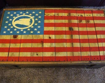 American Flag Pallet Table