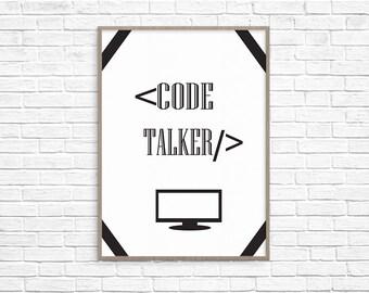 Code Talker  printable home decor wall art