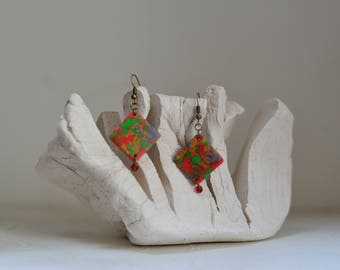 Abstract squares earrings