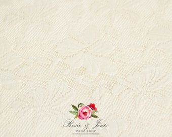Cotton lace newborn photography backdrop overlay / layer FREE uk POSTAGE