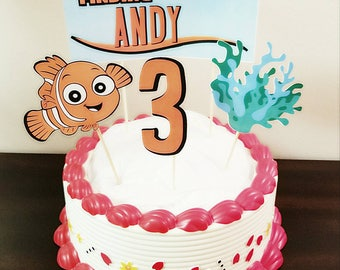 Finding Nemo Cake Topper, Cake Decorations, Nemo Cakes, Cake Toppers with Child Name