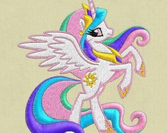 Princess Celestia Embroidery Design, My Little Pony Embroidery Design, Baby Embroidery Design, Girl embroidery design, My Little Ponies
