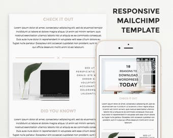 Email Template for Mailchimp, Responsive Email Design, Email Marketing for Bloggers, Modern Mailchimp Template, Newsletter Template