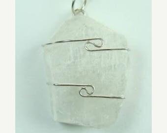 Merkabite Calcite wire wrapped Pendant #704