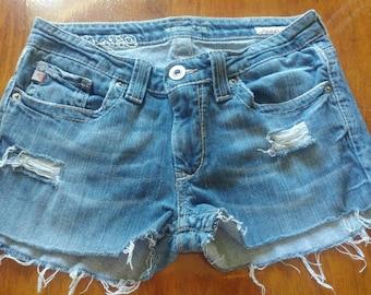 Big Star cut - off handmade shorts