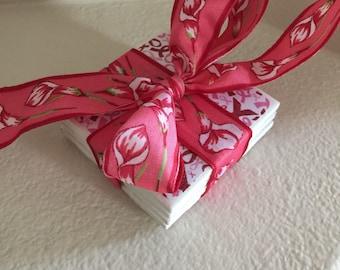 Tile Coasters; Breast Cancer Awareness Tile Coasters; Pink Ribbon Tile Coaster; Cancer Awareness Coasters