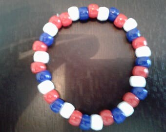Red, White & Blue Beaded Bracelet - Perfect for July 4th