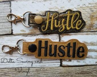 Hustle Keychain, Hustle Snap Tab, Hustle Key Fob