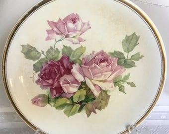 Beautiful Floral Plate - K.T. & K. Co. 306 Semi - Vitreous Porcelain
